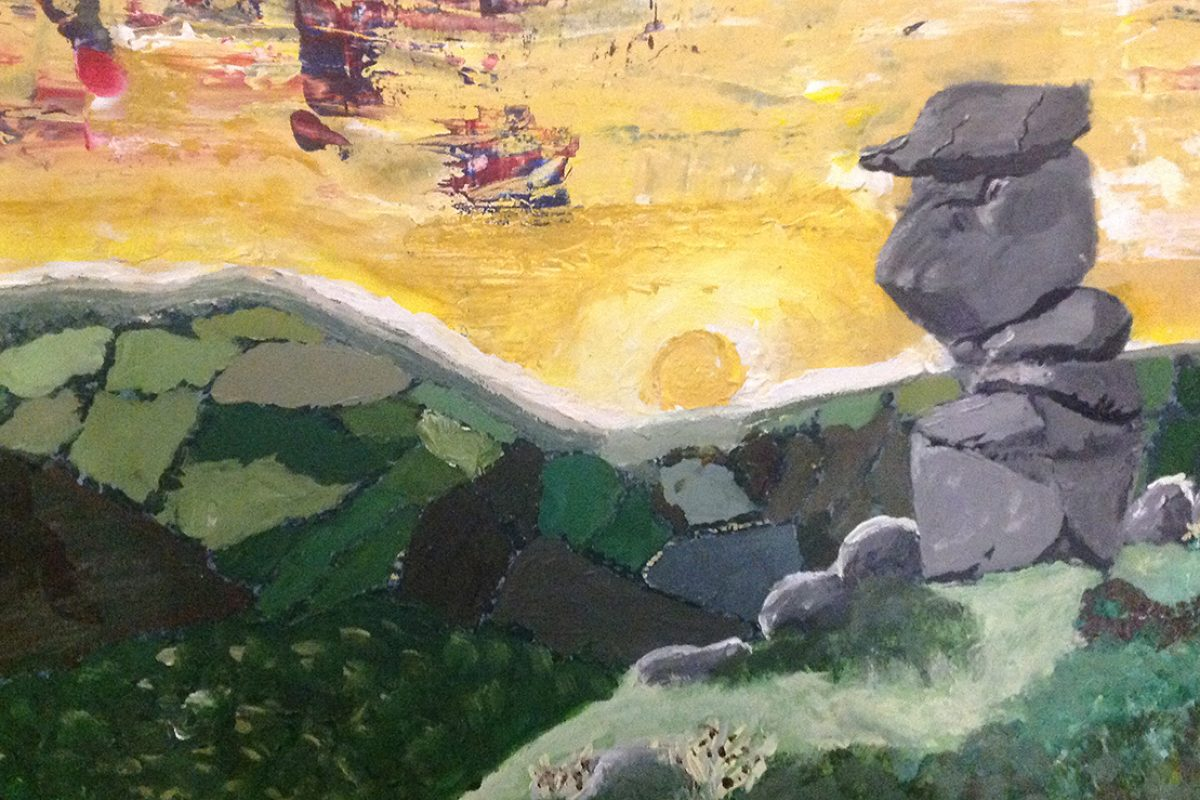 Bowerman's Nose on Dartmoor by Thomasin Manley-Frost (age 10), St Peter's Prep School, Lympstone (1)
