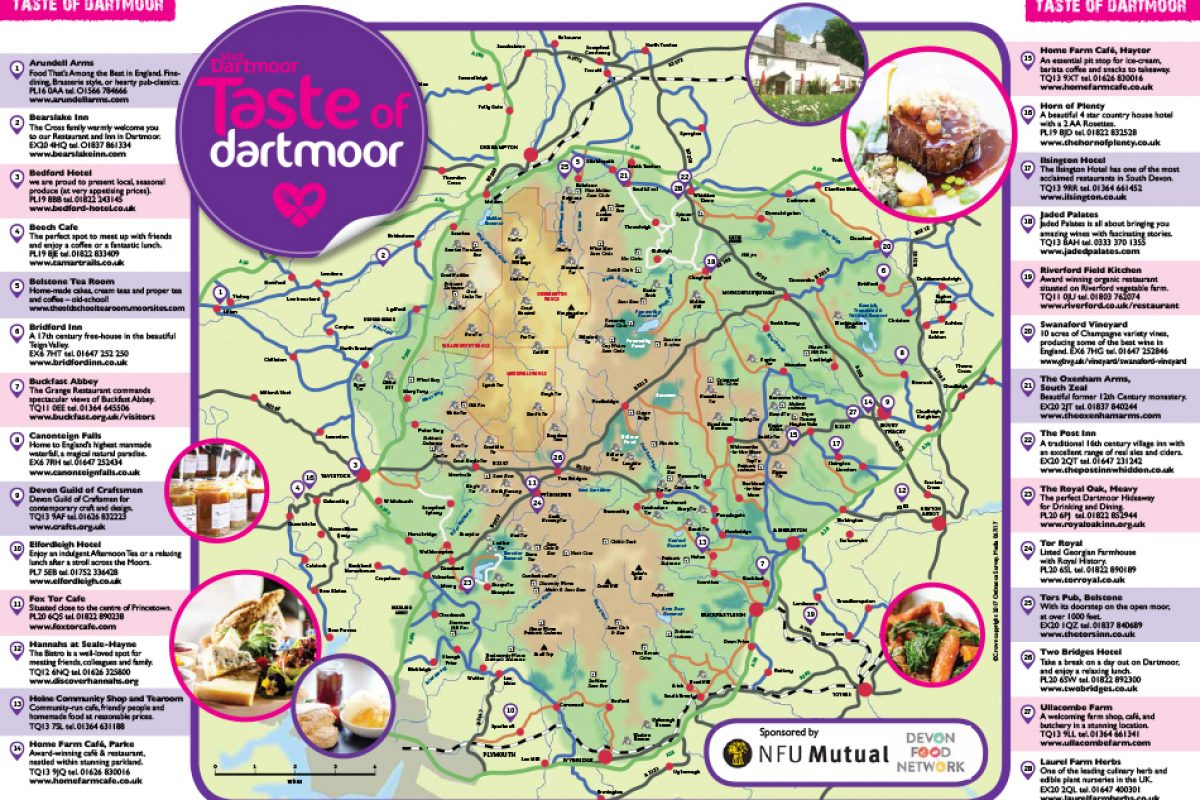 Taste of Dartmoor map